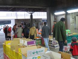 1月12日土曜日市場開放フェアが開催されました