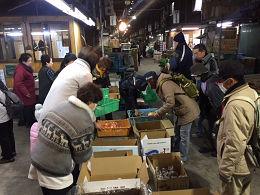 1月6日土曜日に市場開放フェアが開催されました。