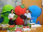 6月25日(月)アマフレッシュによる市長訪問と旬の食材のPRが行われました。