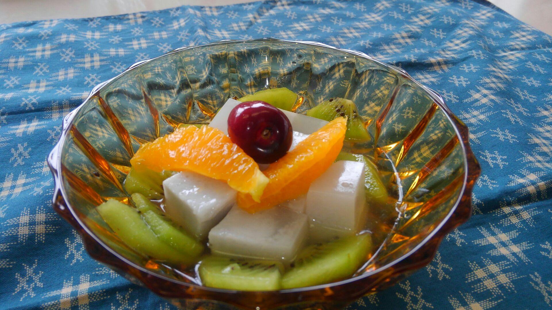 ココナッツミルク杏仁豆腐
