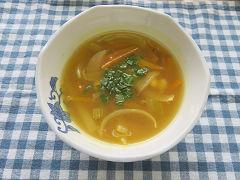 大豆と野菜のカレースープ