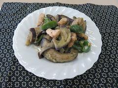 鶏とナスのスタミナ炒め