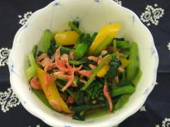 菜の花とパプリカのナムル