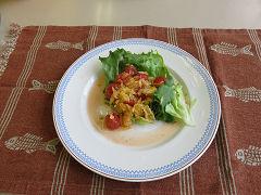 八朔とミニトマトのサラダ