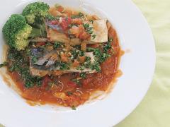 鯖のトマト煮(血液サラサラ体質改善)