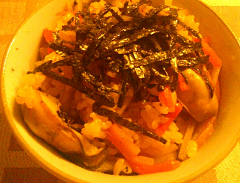 ★牡蠣の炊き込みご飯