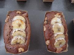 チョコレートとバナナのパウンドケーキ